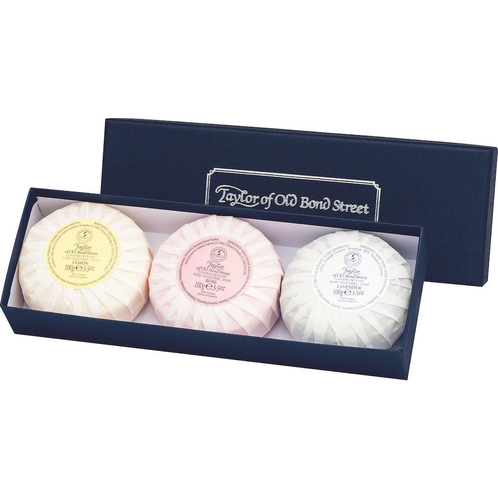 Taylor of Old Bond Street Seifen-Set »Handseifen Geschenkset, 3 x 100 g«, (3 tlg.)