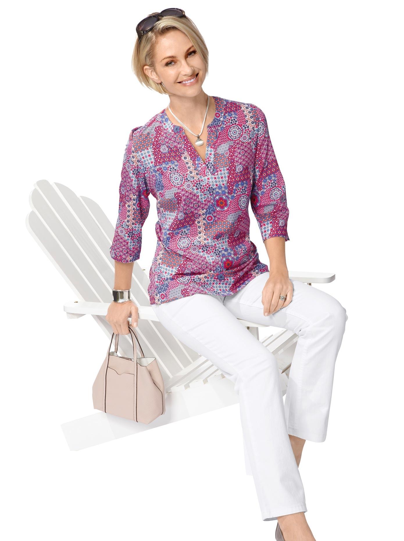 Classic Basics Bluse in lässiger Tunikaform