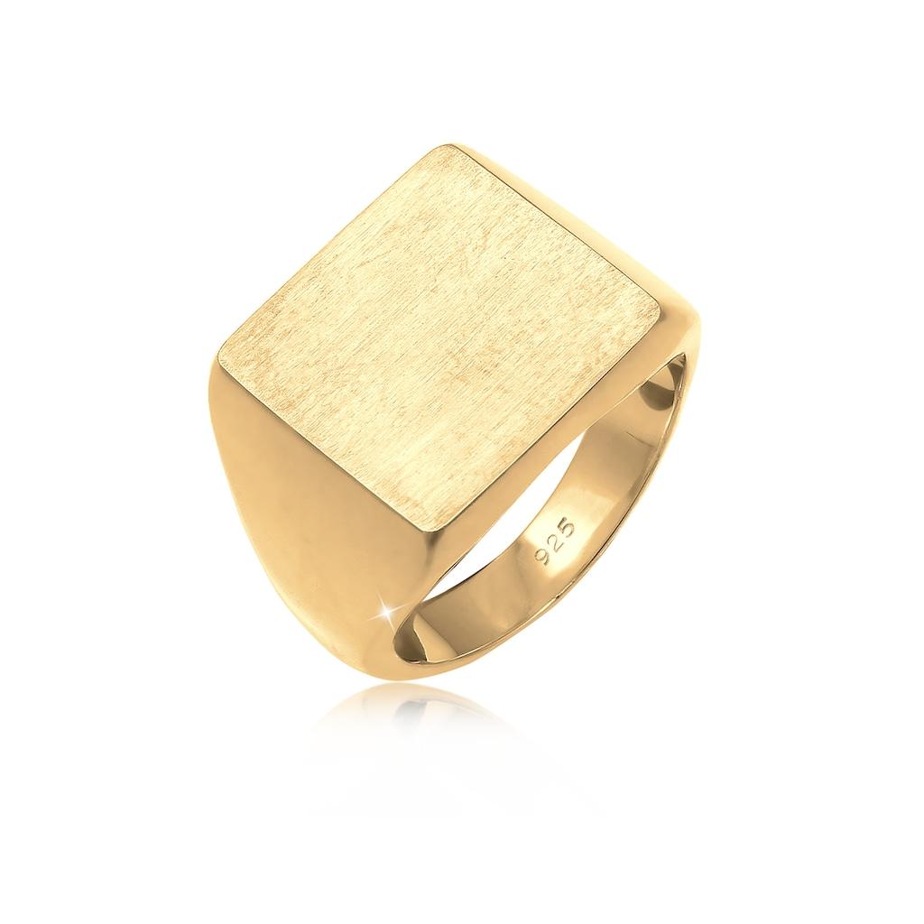Elli Siegelring »Siegelring Royal Matt Geo Quadrat Trend 925 Silber«