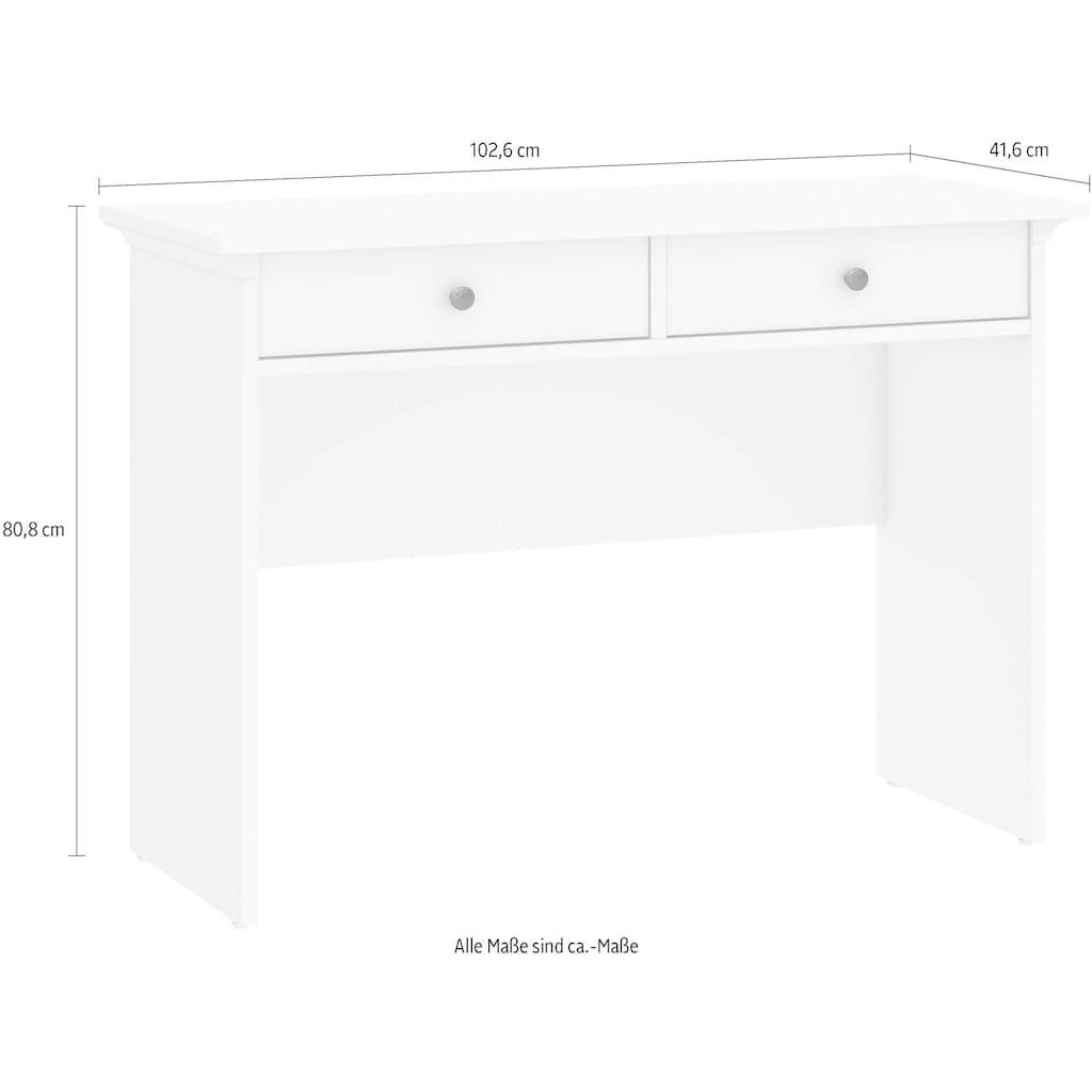 Home affaire Konsolentisch »Paris«, mit 2 Schubladen und wunderschönen Metallgriffen, Höhe 80,8 cm