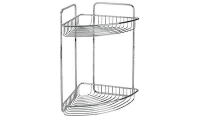 METALTEX Duschablage »Mallorca Eckregal«, 2 Etagen, Breite 20 cm, verchromt kaufen