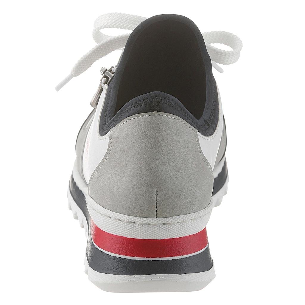 Rieker Sneaker, mit Zier-Reißverschluss