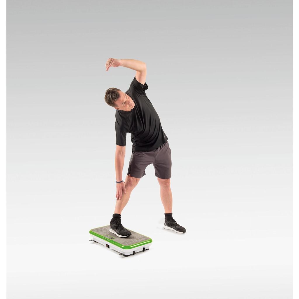 MediaShop Vibrationsplatte »VIBROSHAPER«, 200 W, 3 Intensitätsstufen, (Set), zusätzlich mit 2 stärkeren Trainingsbändern