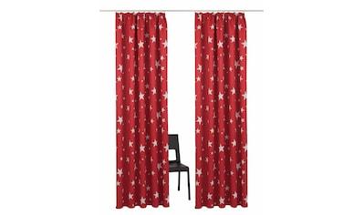 my home Verdunkelungsvorhang »Solana-Star«, Vorhang, Gardine, Fertiggardine, verdunkelnd kaufen