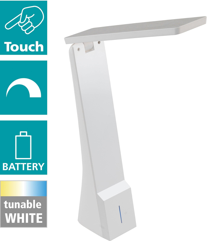 EGLO Tischleuchte LA SECA, LED-Board, Extra-Warmweiß-Kaltweiß-Neutralweiß-Tageslichtweiß-Warmweiß, CCT