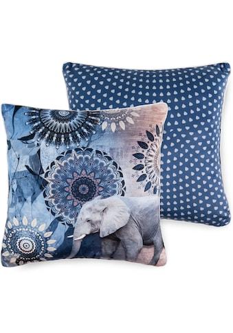 hip Dekokissen »Bjirke«, mit Mandala und Elefant kaufen