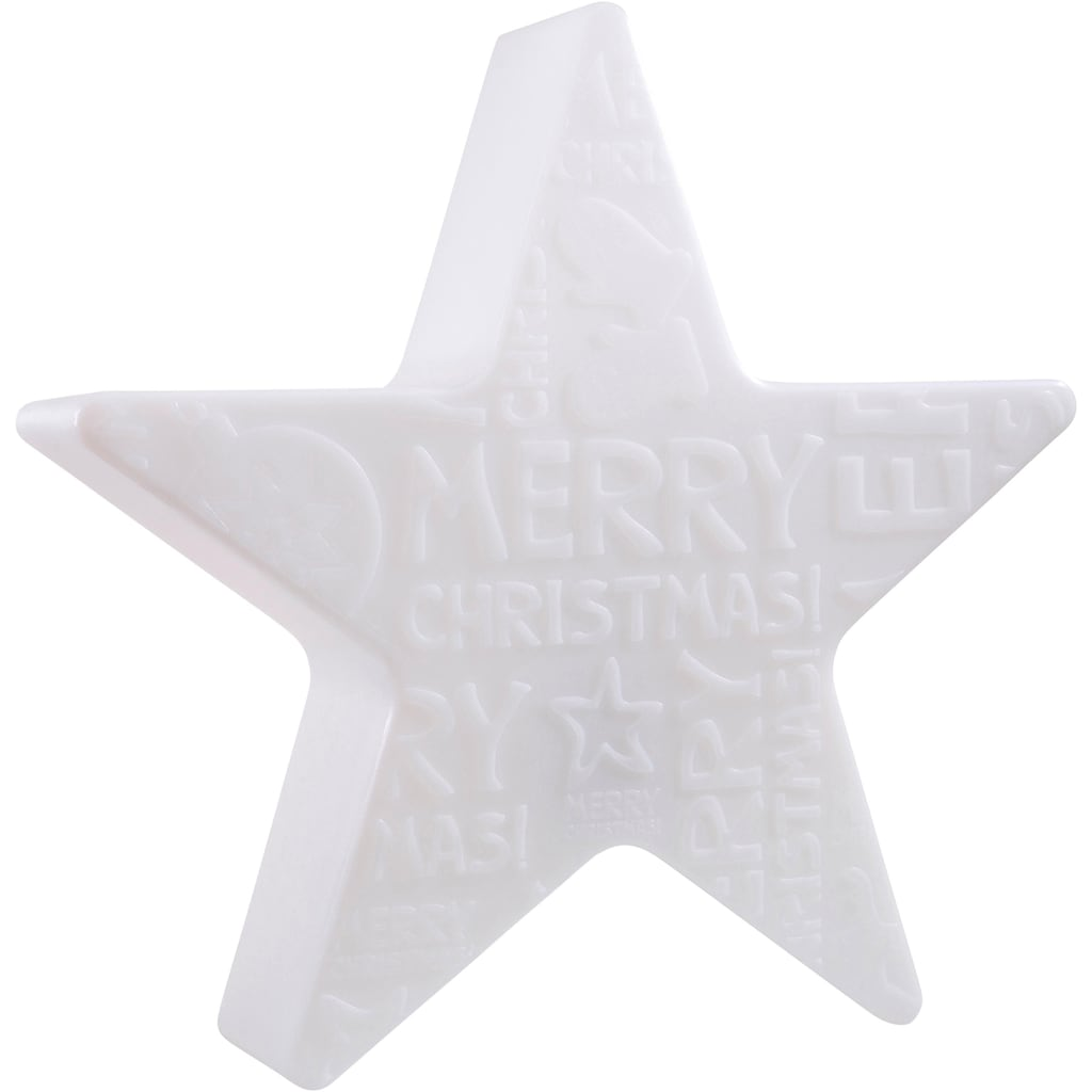8 seasons design Dekolicht »Merry Christmas«, E27, Kaltweiß, Ø 60 cm
