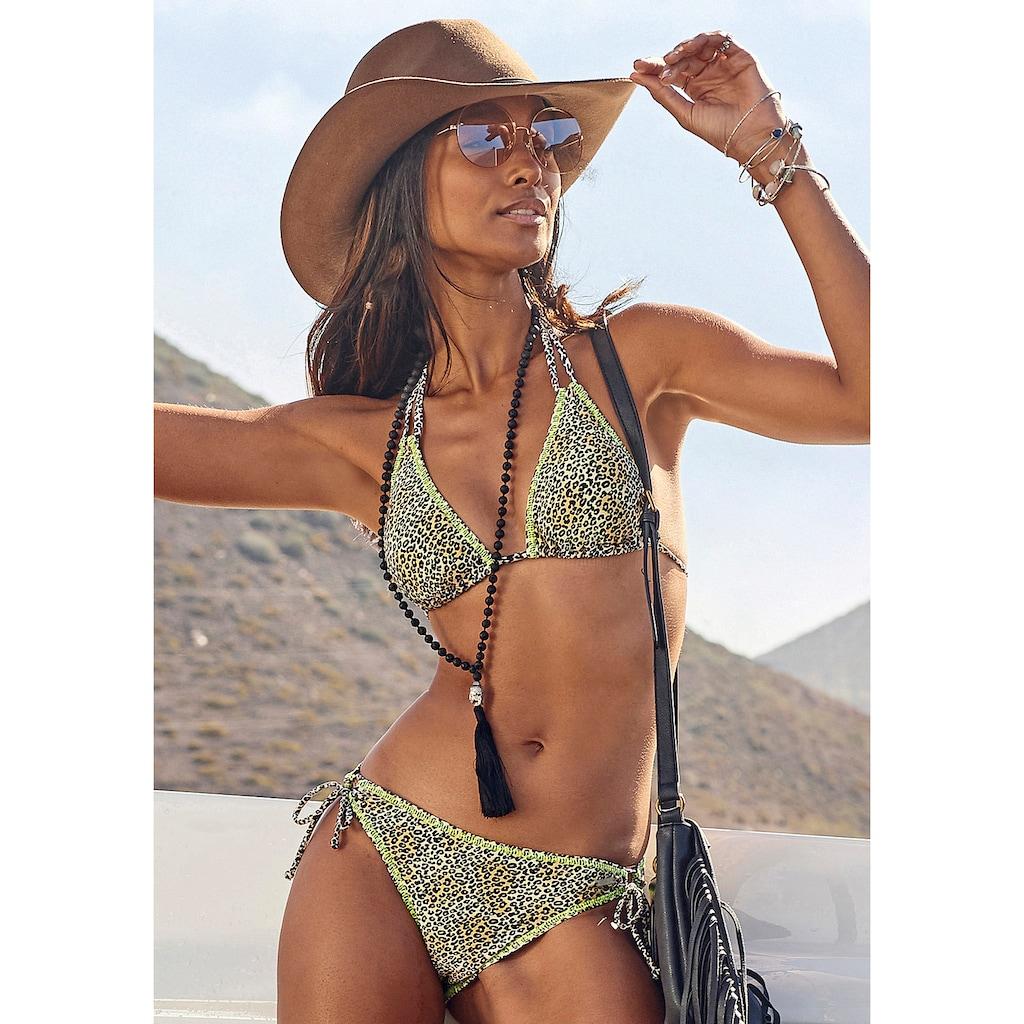 Buffalo Triangel-Bikini, mit neonfarbiger Ziernaht