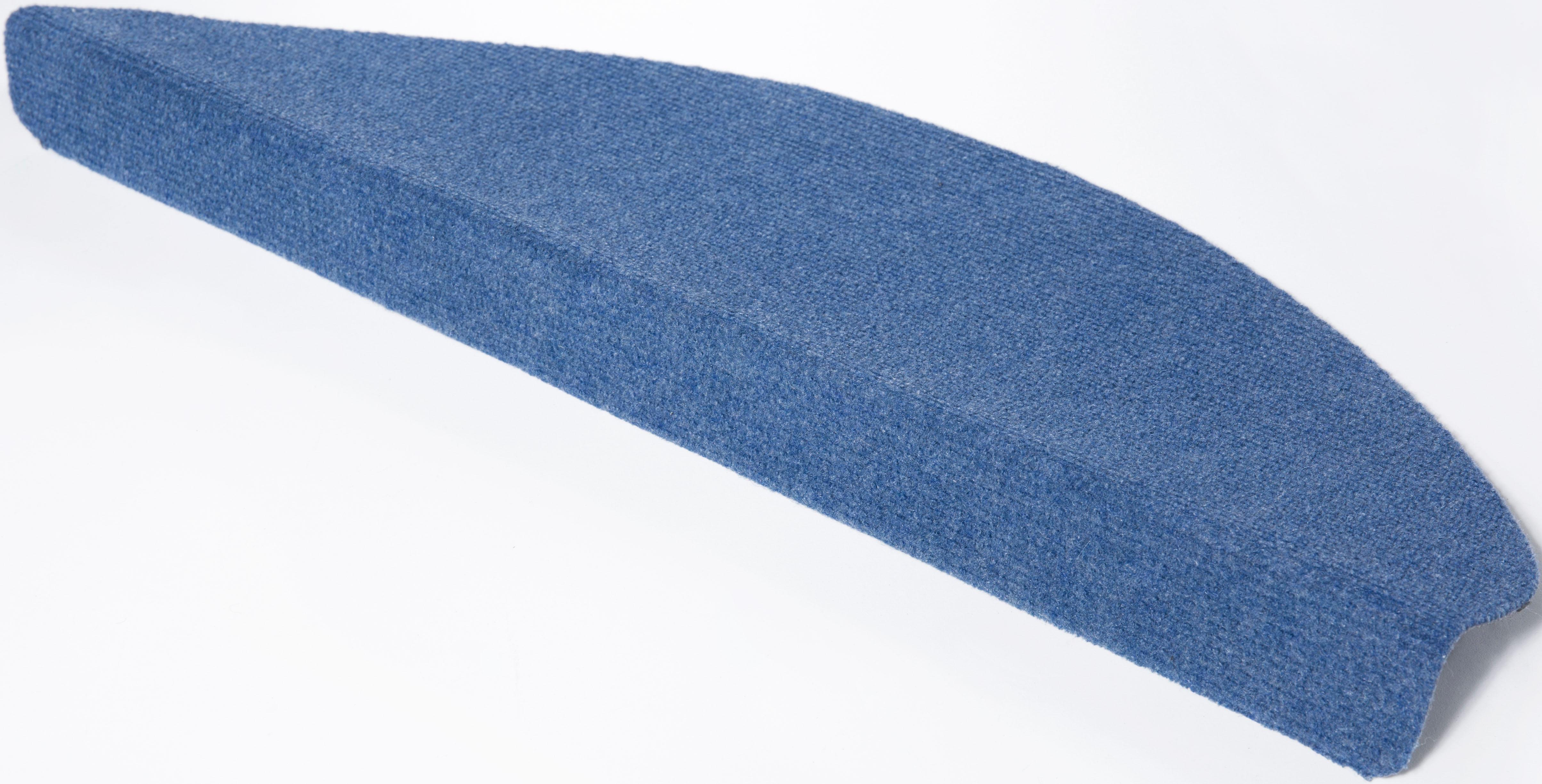 Andiamo Stufenmatte Paris, halbrund, 2 mm Höhe, 15 Stück in einem Set blau Stufenmatten Teppiche