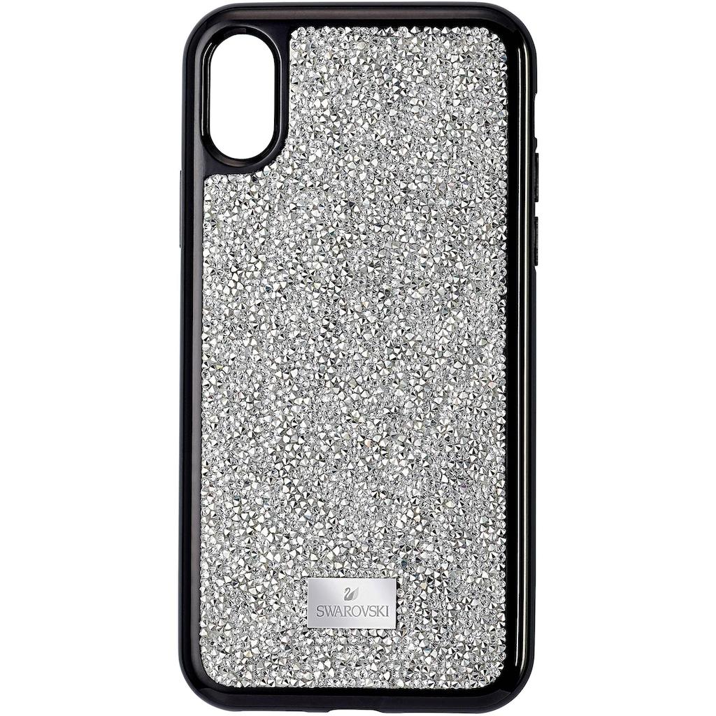 Swarovski Smartphone-Hülle »GLAM ROCK IPXS MAX CASE Schutzhülle mit integriertem Stoßschutz, iPhone® XS Max, silberfarben, 5515013«, iPhone XS Max, mit Swarovski® Kristallen