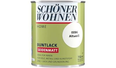 SCHÖNER WOHNEN-Kollektion Lack »Home Buntlack«, seidenmatt, 750 ml, altweiß kaufen