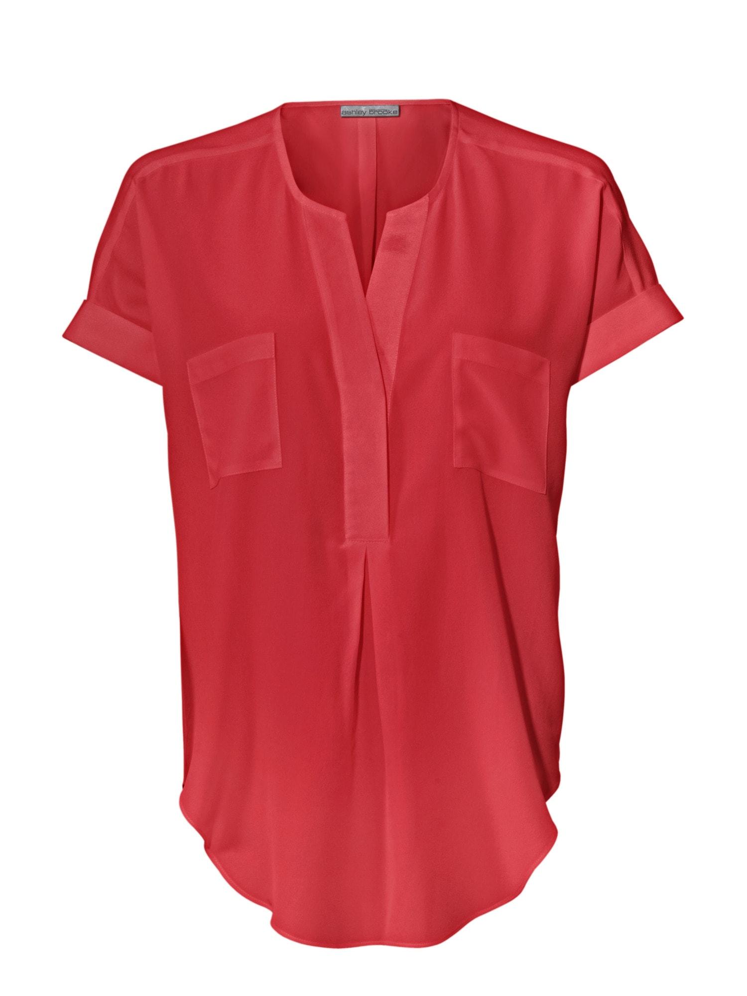 heine TIMELESS Seidenbluse mit aufgesetzten Taschen | Bekleidung > Blusen > Seidenblusen | heine