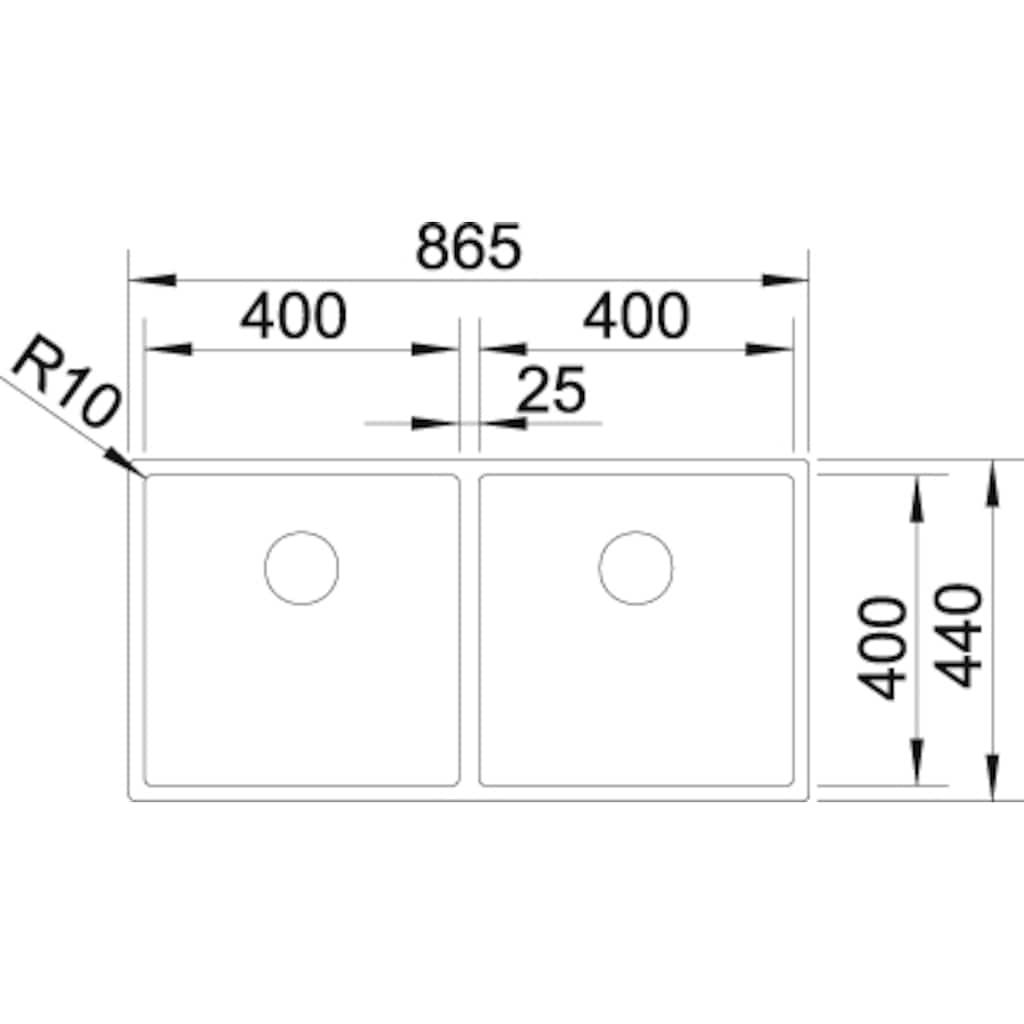 Blanco Küchenspüle »CLARON 400/400-IF«
