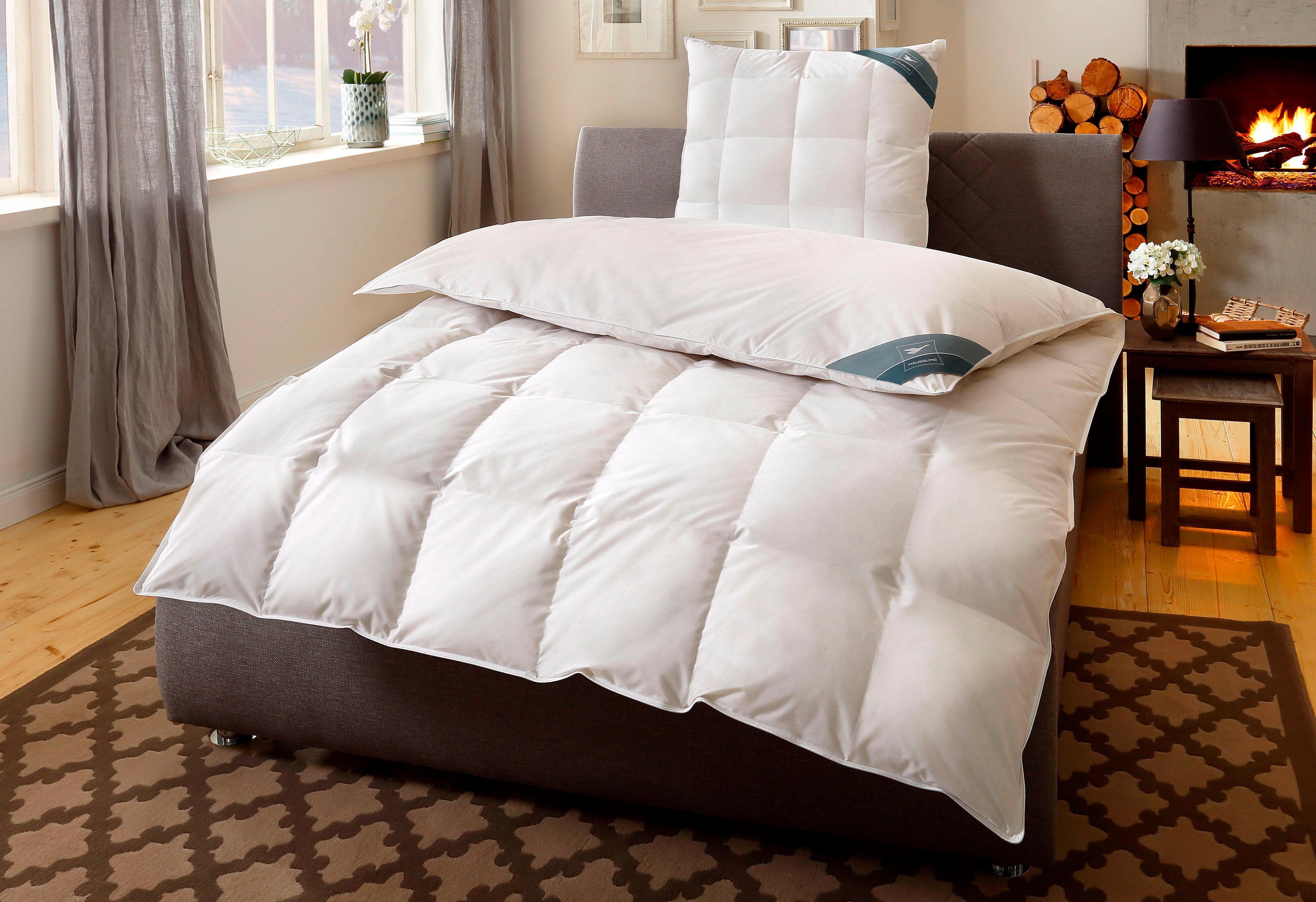 Daunenbettdecke BodyPerfect Haeussling polarwarm Füllung: 60% Daunen 40% Federn Bezug: 100% Baumwolle