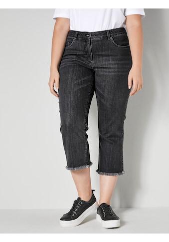 Sara Lindholm 5-Pocket-Jeans, mit offenem Saum kaufen