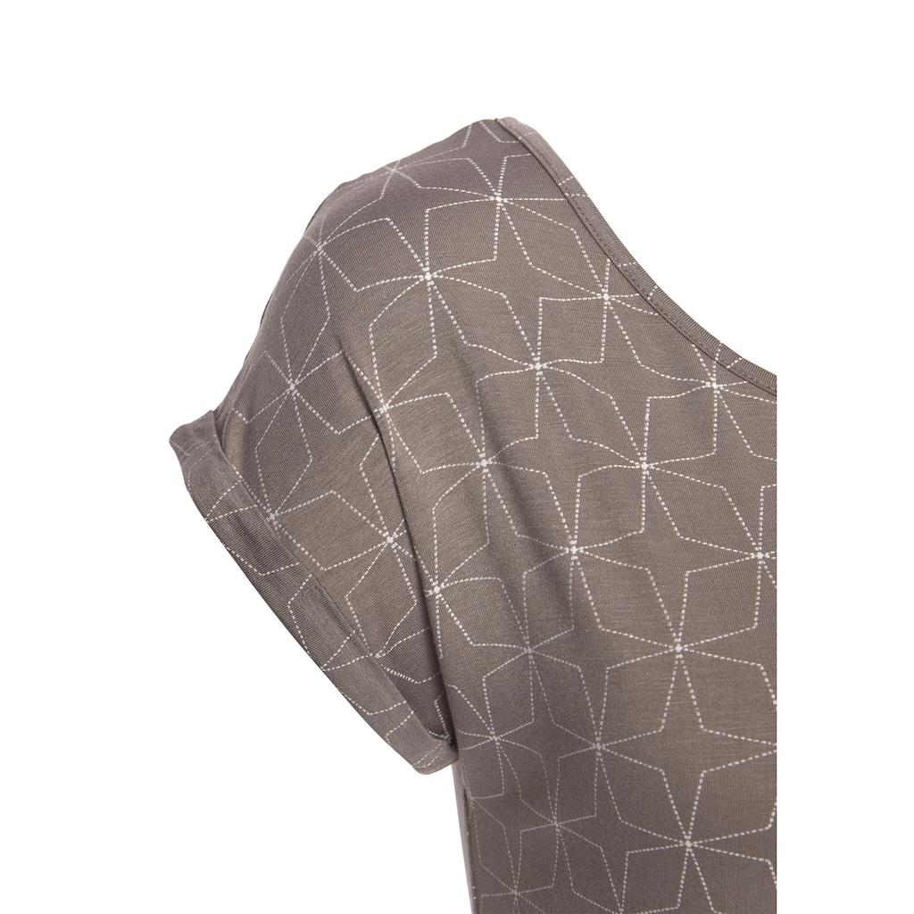 LASCANA T-Shirt, mit kleinem Cut-Out im Nacken