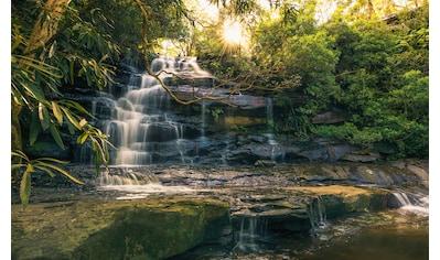 KOMAR Fototapete »Golden Falls«, Bahnbreite: 50 cm; Motiv bestehend aus mehreren Bahnen kaufen