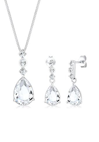 Elli Schmuckset »Set Tropfen Kristalle 925 Silber« kaufen