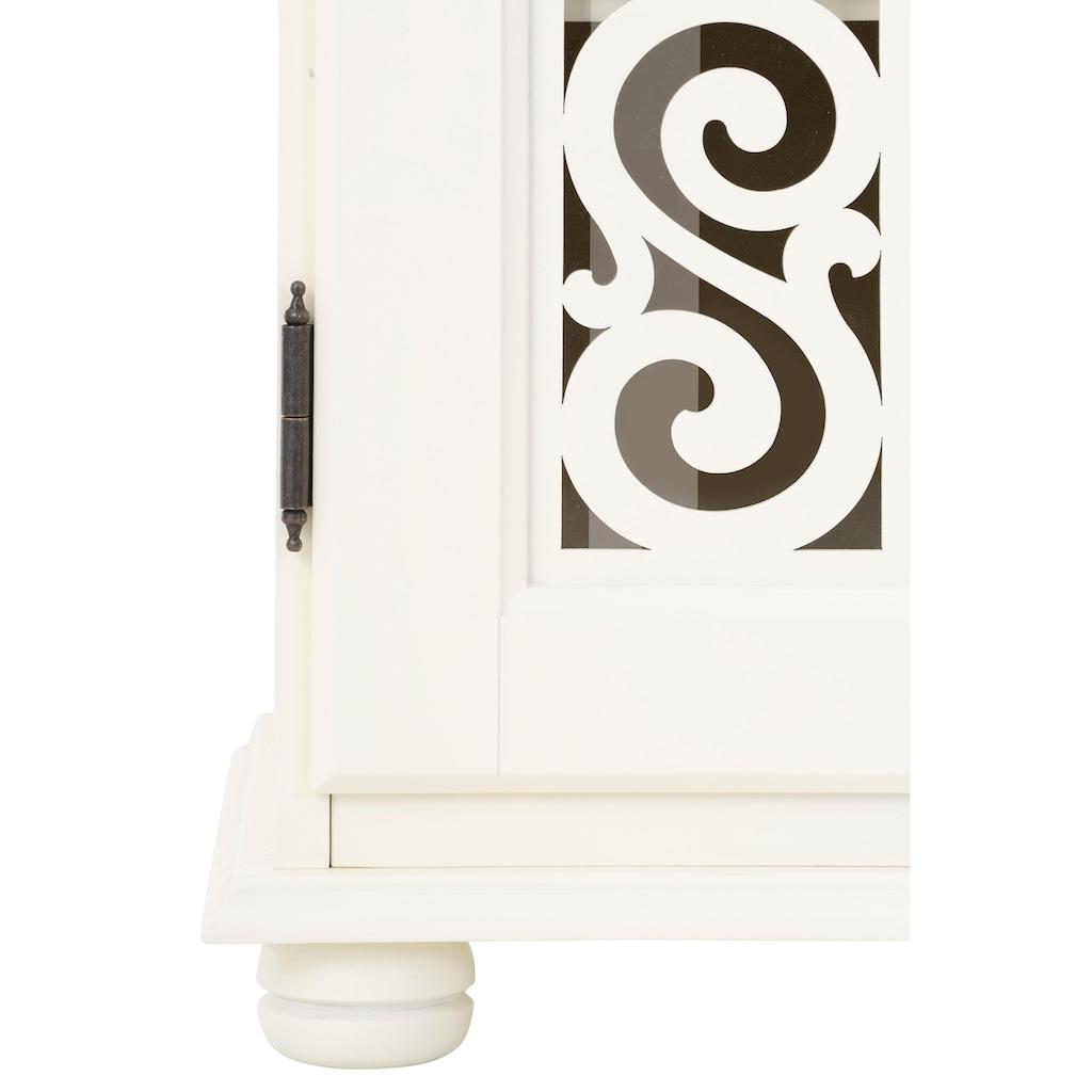 Premium collection by Home affaire Nachtkommode »Arabeske«, mit schönen dekorativen Fräsungen auf den Türfronten, Türanschlag unterschiedlich erhältlich