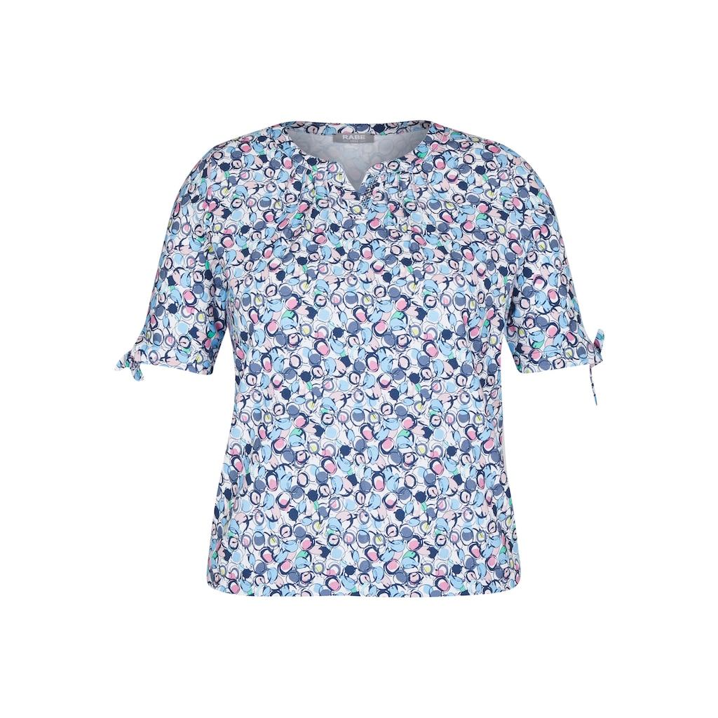 Rabe T-Shirt, mit grafischem Allover-Muster und Bindebändern