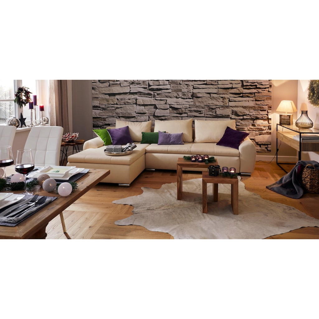 LUXOR living Fellteppich »Rinderfell 3«, fellförmig, 3 mm Höhe, echtes Rinderfell, Naturprodukt daher ist jedes Rinderfell ein Einzelstück, Wohnzimmer