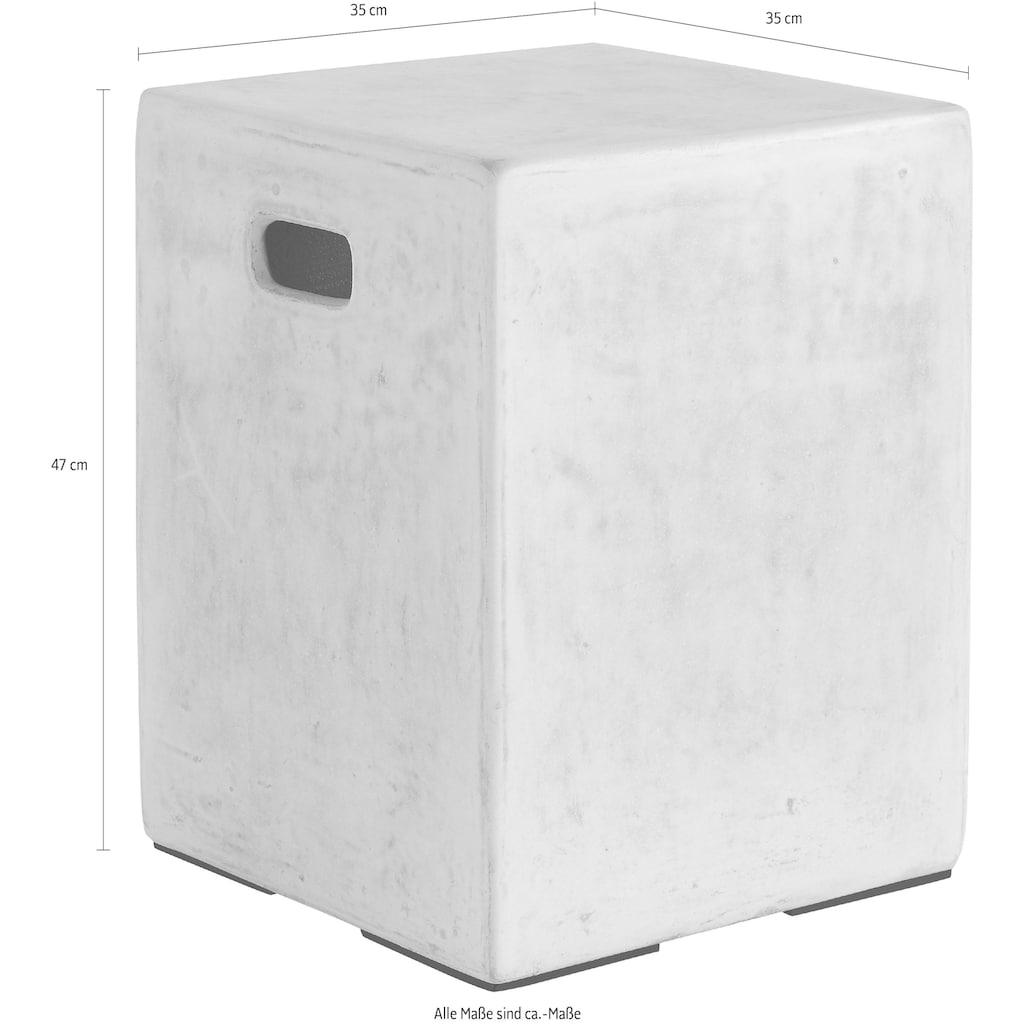 INOSIGN Beistelltisch »Square«, in shabby chic weiß, mit einer quadratische Form aus Beton