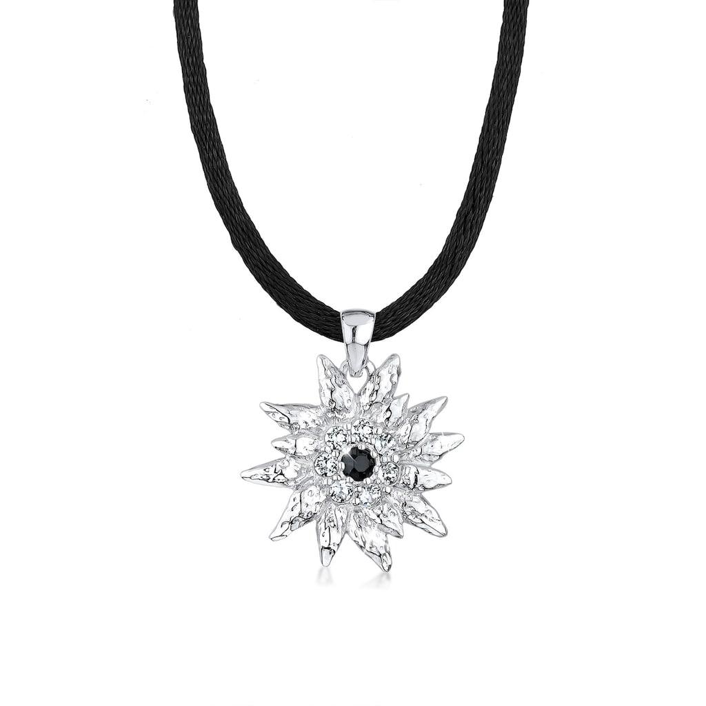 Elli Collierkettchen »Edelweiss Kristalle Sterling Silber«