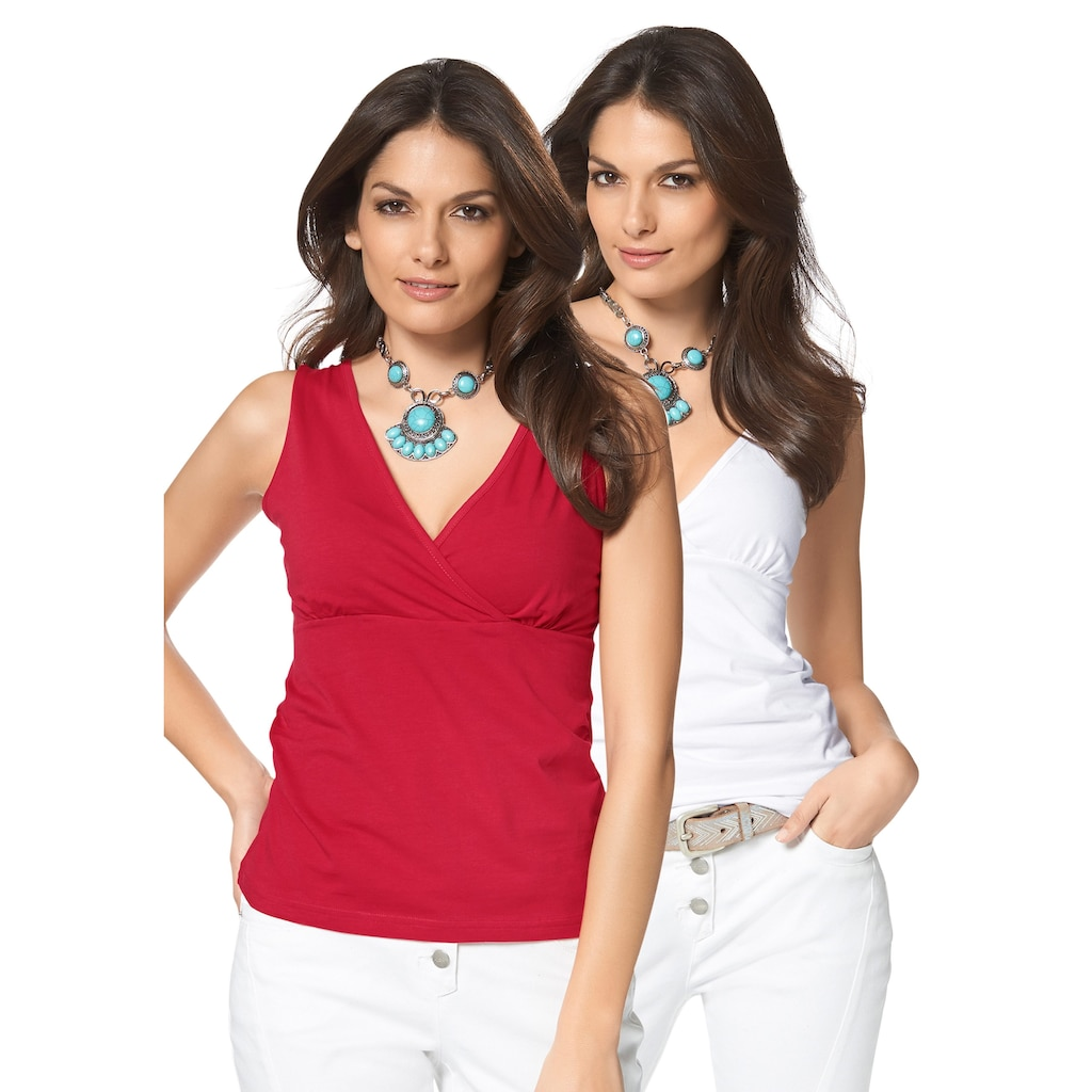 Aniston SELECTED Tanktop, (Packung, 2 tlg., 2er-Pack)