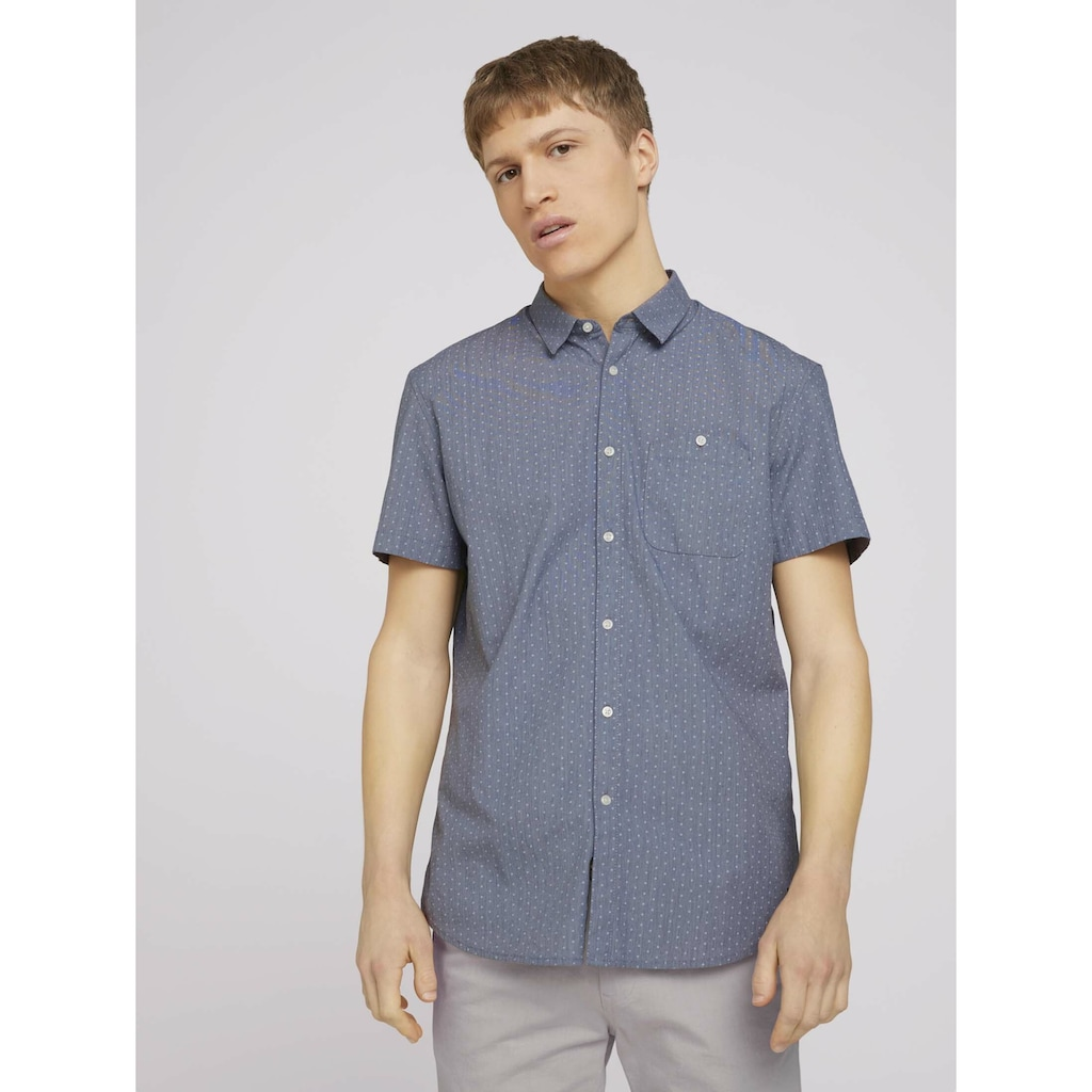 TOM TAILOR Denim Kurzarmhemd »gemustertes Hemd«