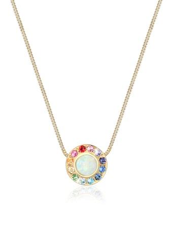 Elli Collierkettchen »Opal Regenbogen Kristalle 925 Silber« kaufen