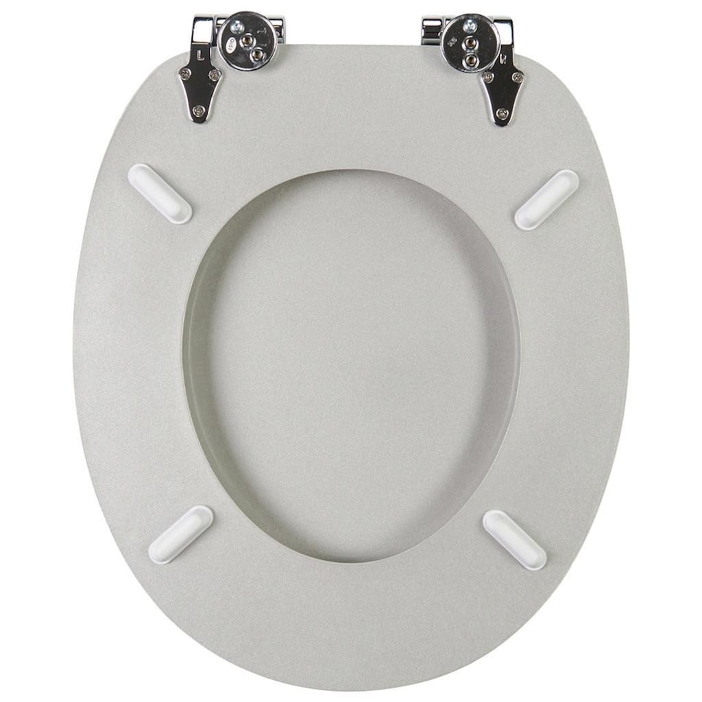 Sanilo WC-Sitz »Crystal Silver«, mit Absenkautomatik