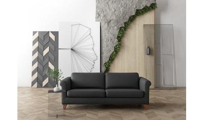 machalke® 3-Sitzer »amadeo«, Ledersofa mit geschwungenen Armlehnen, Breite 213 cm kaufen