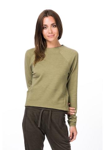 SUPER.NATURAL Sweatshirt »W SUPER CROP SWEATER«, verkürzte Passform, optimaler... kaufen