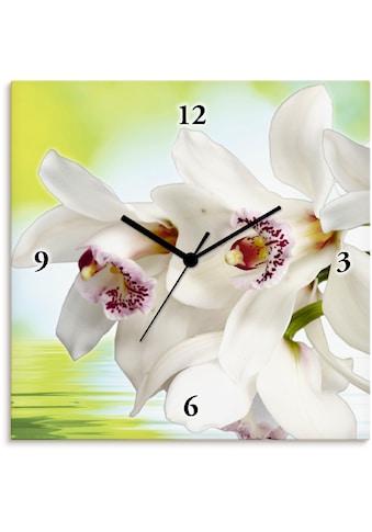 Artland Wanduhr »Weiße Orchidee«, lautlos, ohne Tickgeräusche, nicht tickend,... kaufen