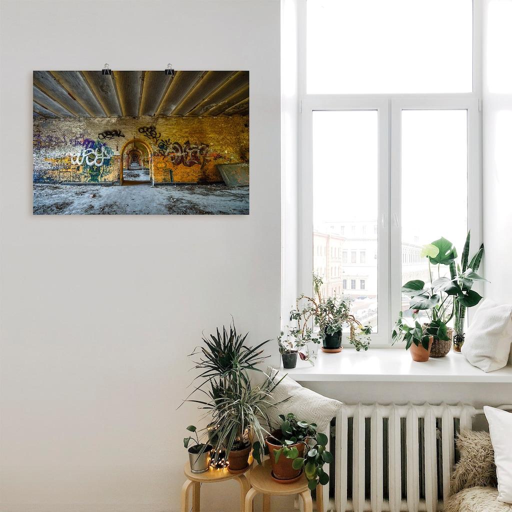 Artland Wandbild »Tor in die Vergangenheit«, Gebäude, (1 St.), in vielen Größen & Produktarten - Alubild / Outdoorbild für den Außenbereich, Leinwandbild, Poster, Wandaufkleber / Wandtattoo auch für Badezimmer geeignet