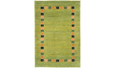 morgenland Wollteppich »Loribaft Teppich handgeknüpft grün«, rechteckig, 18 mm Höhe,... kaufen