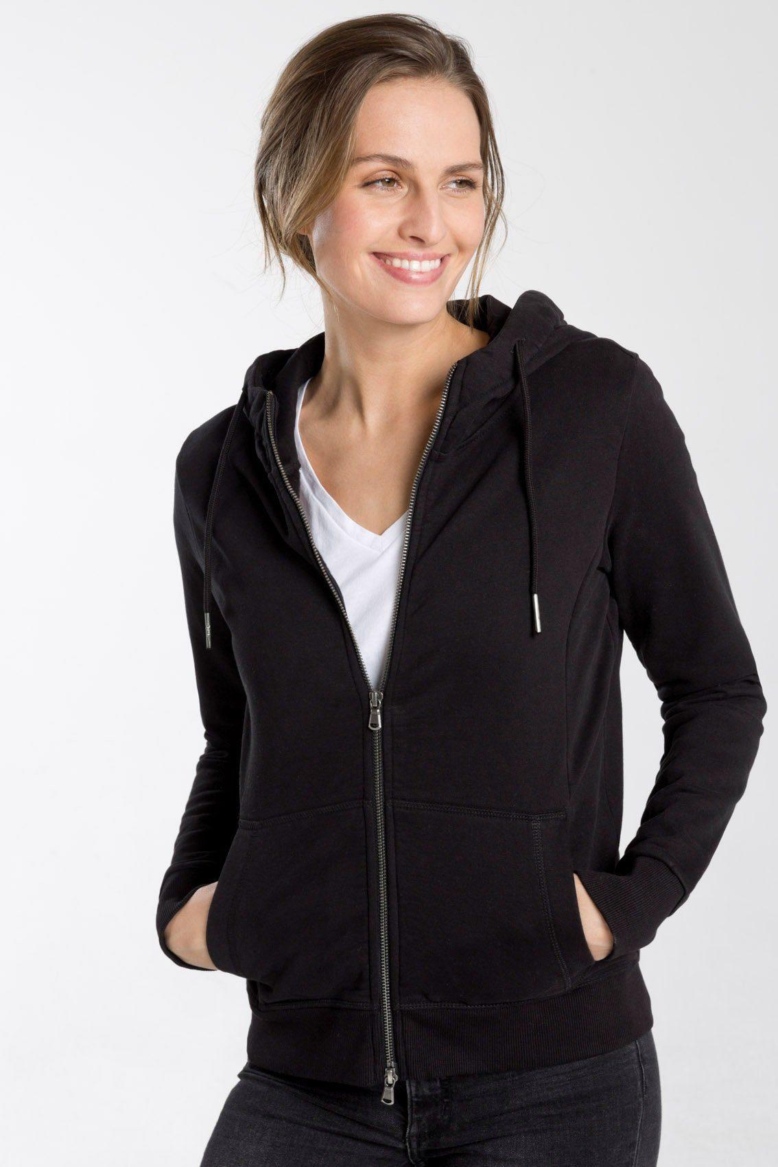SHIRTS FOR LIFE Sweatjacke aus fair gehandelten Materialien | Bekleidung > Sweatshirts & -jacken > Sweatjacken | Schwarz | Baumwolle - Polyester | Shirts For Life