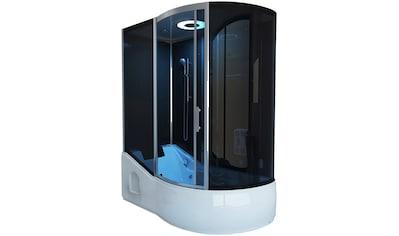 HOME DELUXE Dampfdusche »ALL IN  -  4 in 1«, BxT: 170x90 cm, Dampfdusche/Wanne/Whirlpool/Sauna kaufen