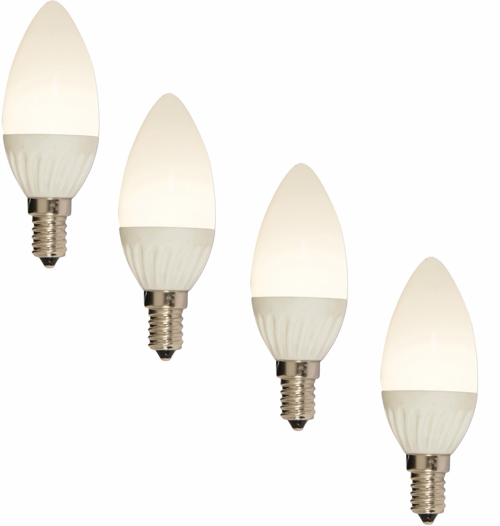 Näve LED Leuchtmittel, 4er Set, »E14 Kerze«