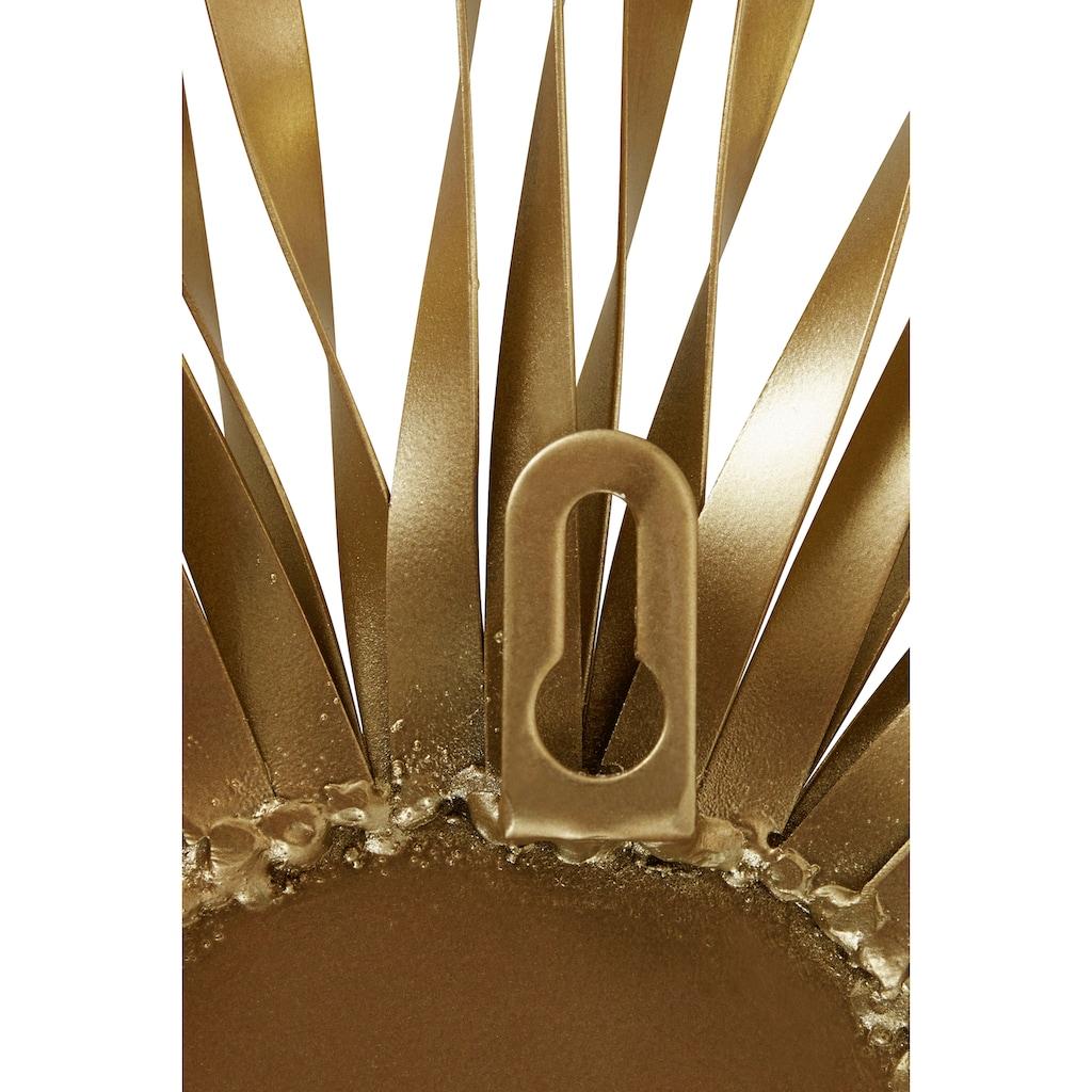 Leonique Wanddekoobjekt, Wanddeko, aus Metall, mit Spiegel