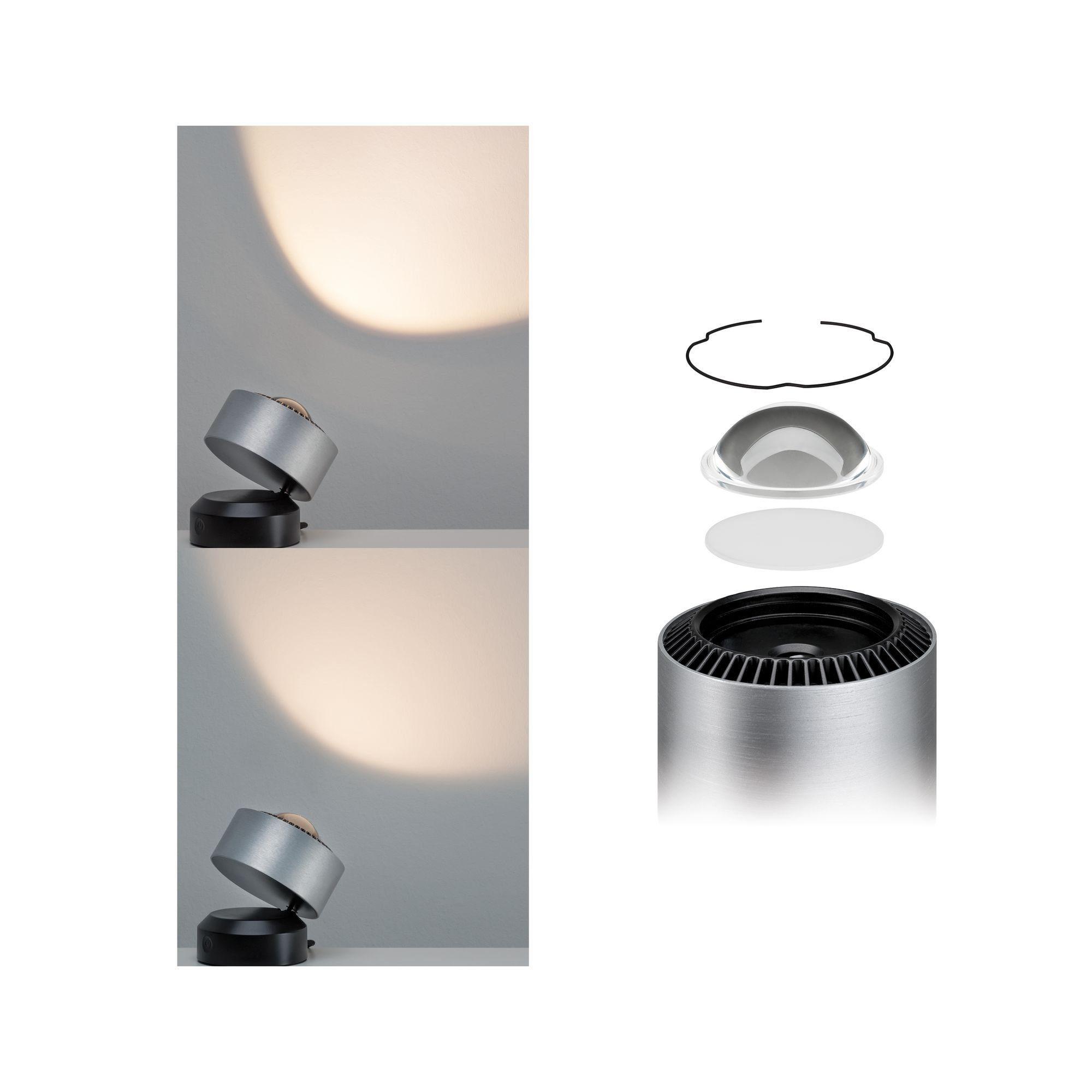 Paulmann LED Tischleuchte Aldan 3,5W Schwarz/Alu gebürstet dimmbar, 1 St., Warmweiß