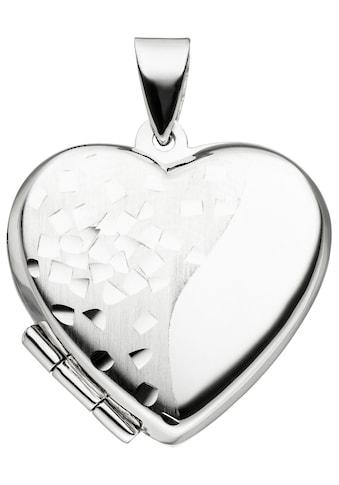 JOBO Medallionanhänger »Medaillon«, Herz 925 Silber kaufen