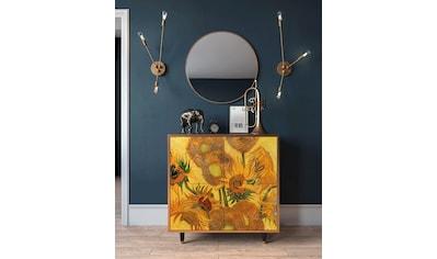 Places of Style Kommode »Sun Flowers«, mit dekorativen Print auf den Türen kaufen