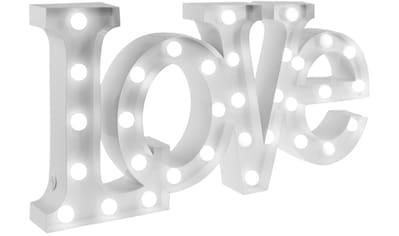 MARQUEE LIGHTS LED Dekolicht »Love Schriftzug«, 1 St., Warmweiß, Wandlampe, Tischlampe Love mit 33 festverbauten LEDs - 64cm Breit und 31cm hoch kaufen