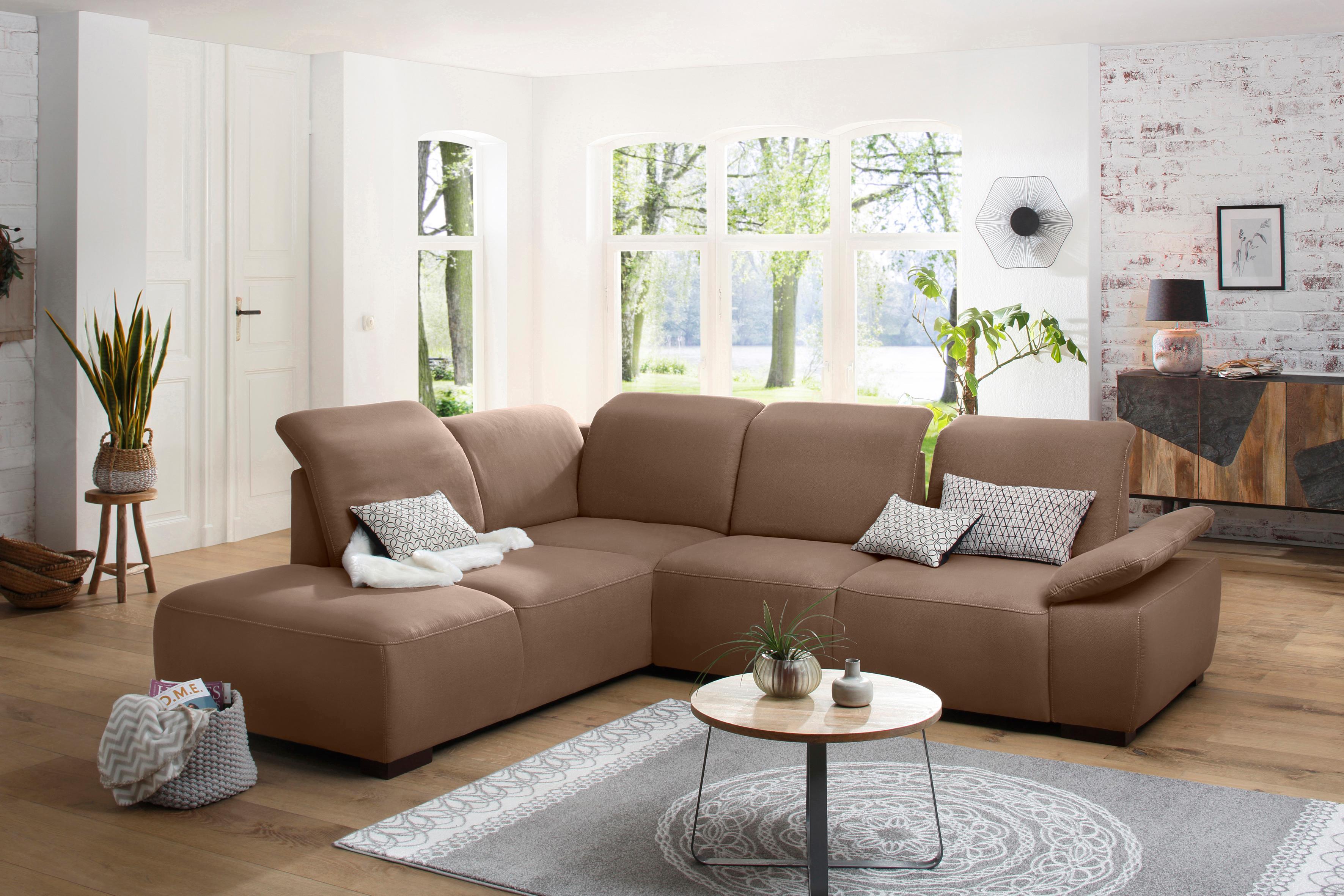Home affaire Ecksofa Tobago | Wohnzimmer > Sofas & Couches > Ecksofas & Eckcouches | Braun | Home Affaire