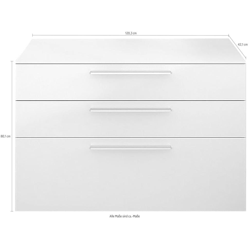 GALLERY M Lowboard »Arrive 7317«, Breite 120,3 cm, mit 3 Schubladen, Höhe 80 cm