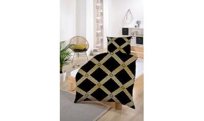 Gold-Line Bettwäsche »Gold-Line Bed - Abstrakte goldene Ornamente«, besonders weich... kaufen