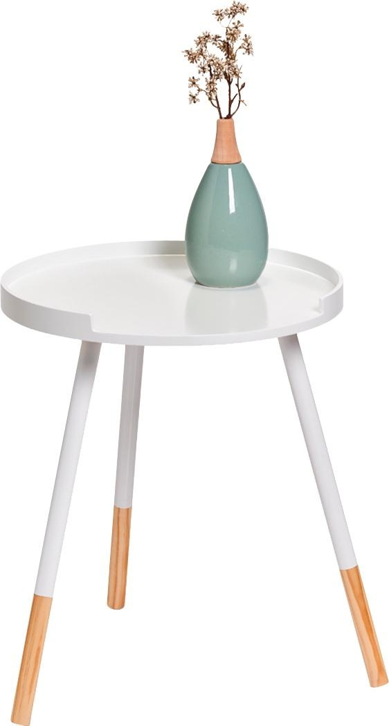 Zeller Present Beistelltisch, MDF/Holz weiß Beistelltische Tische Beistelltisch