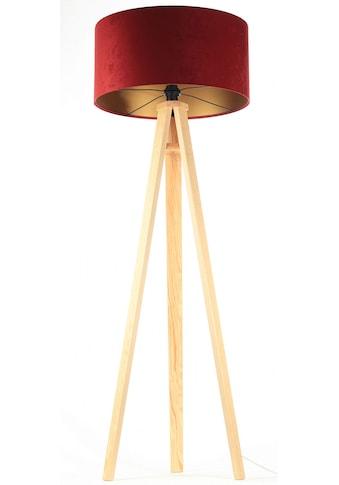 Jens Stolte Leuchten Stehlampe »Paula«, E27, 2 St., Textilstehleuchte, rot, Holzfuß,... kaufen