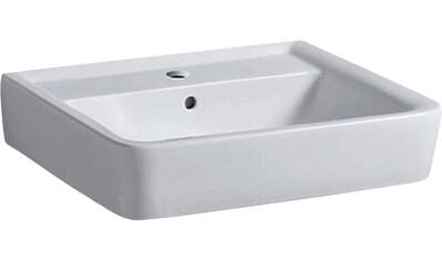 GEBERIT Waschbecken »Renova Nr. 1 Plan«, mit Hahnloch, mit Überlauf, weiß kaufen